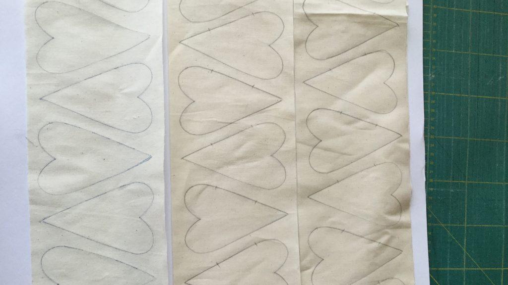 Country szív rajz textilre